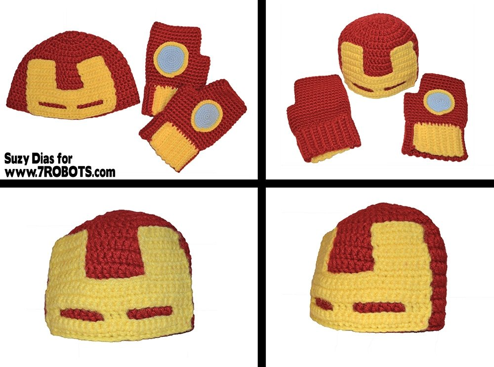 Free Crochet Pattern Iron Man Hat : Gallery For > Iron Man Beanie Hat