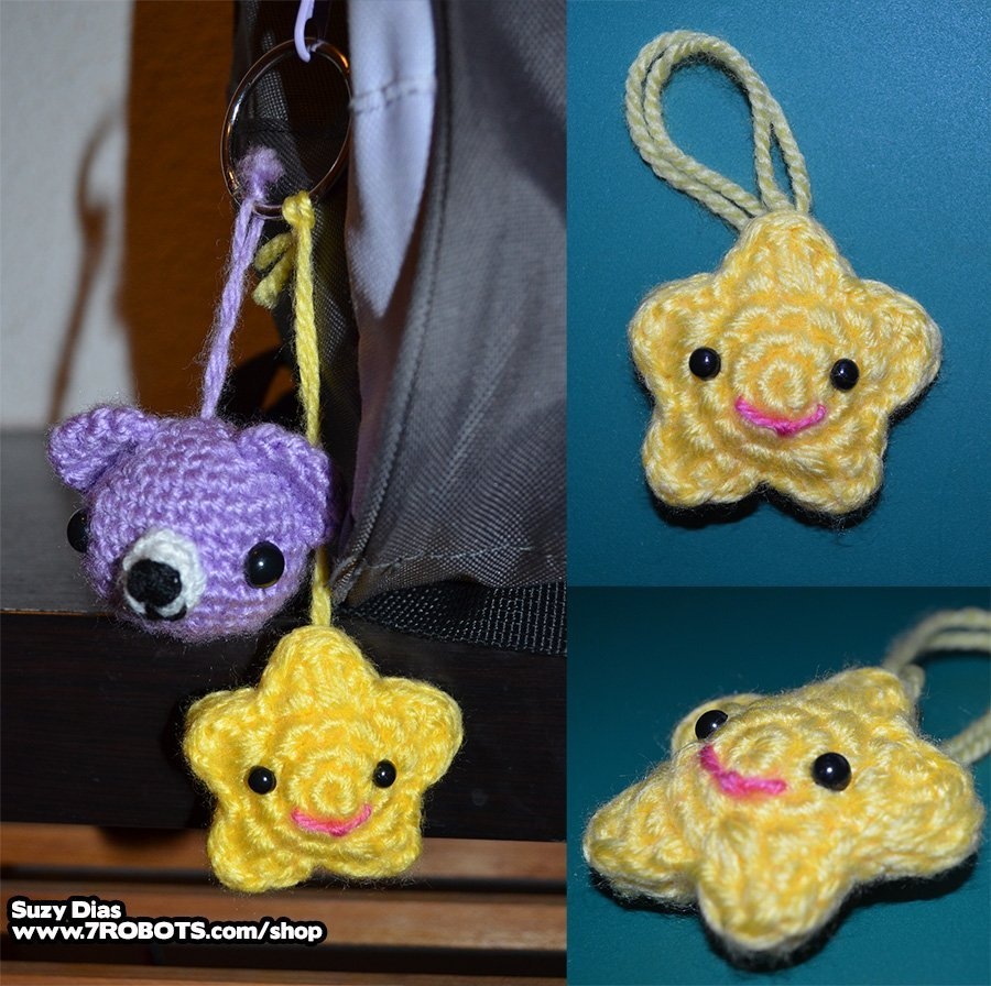 Crochet Star Kawaii FREE Pattern by Suzy Dias