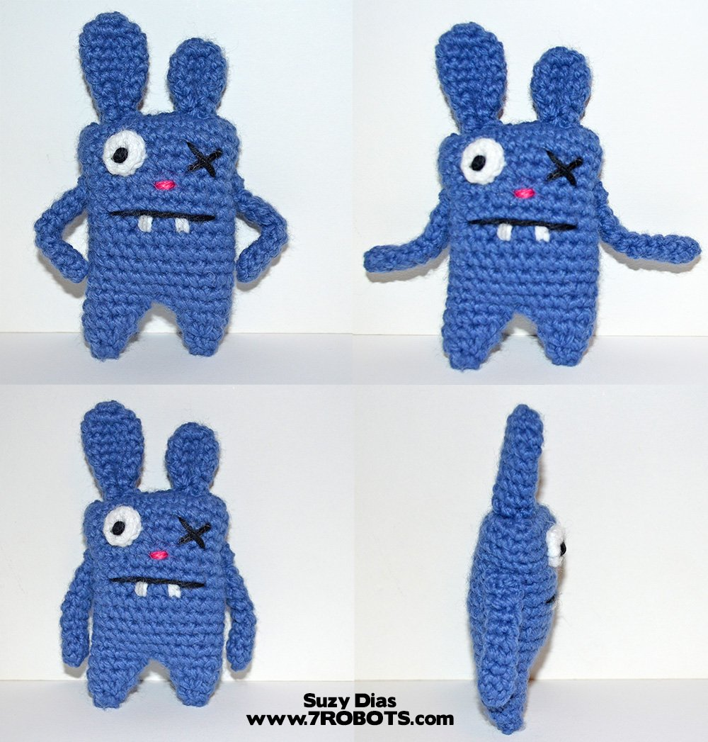 Amigurumi Ugly Bunny Keychain or Pincushion (FREE Pattern) - 7 ...