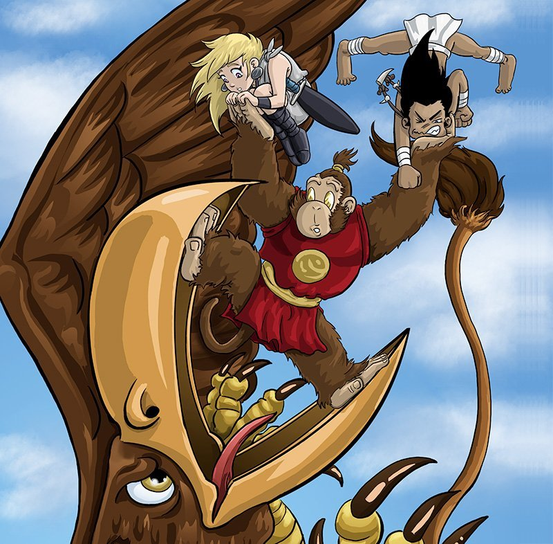 Monkey King from Wolf Boy and the Wrath of Stickybeard