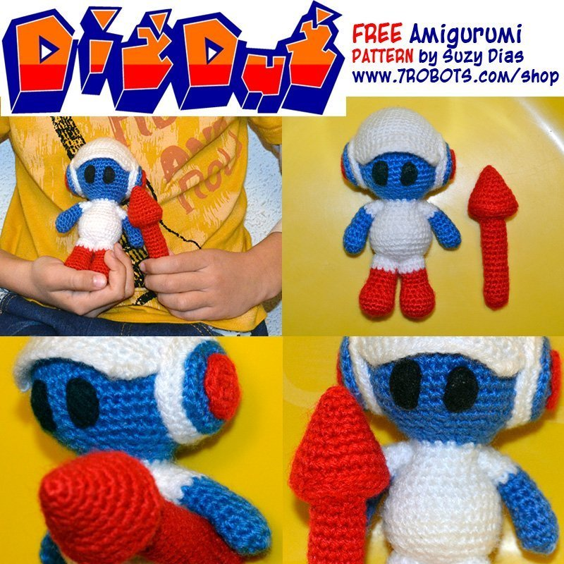Crochet Dig Dug FREE Pattern by Suzy Dias