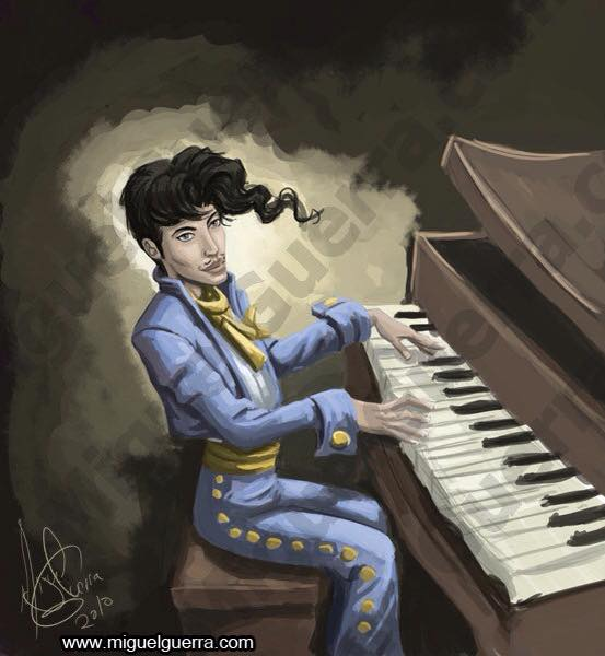 Prince fan art by Miguel Guerra