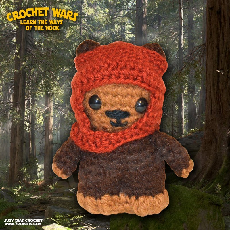 Star Wars Crochet Wicket the Ewok by Suzy Dias