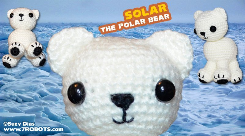 Solar the Polar Bear! Design by Suzy Dias