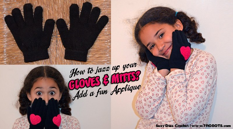 Suzy Dias heart applique for gloves