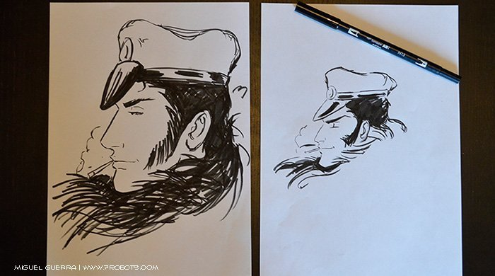 Miguel Guerra Tombow Brush Pen Experiment