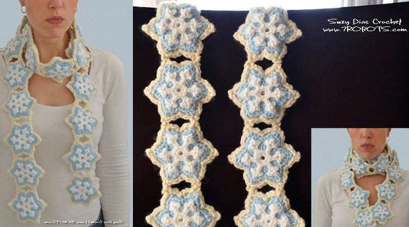 Crochet Cookie Scarf by Suzy Dias