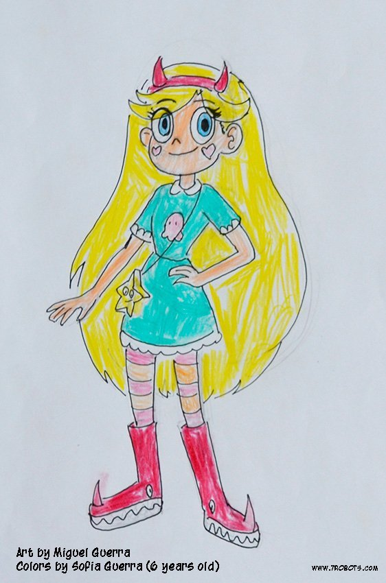Star vs. the Forces of Evil fan art by Miguel Guerra and Sofia Guerra
