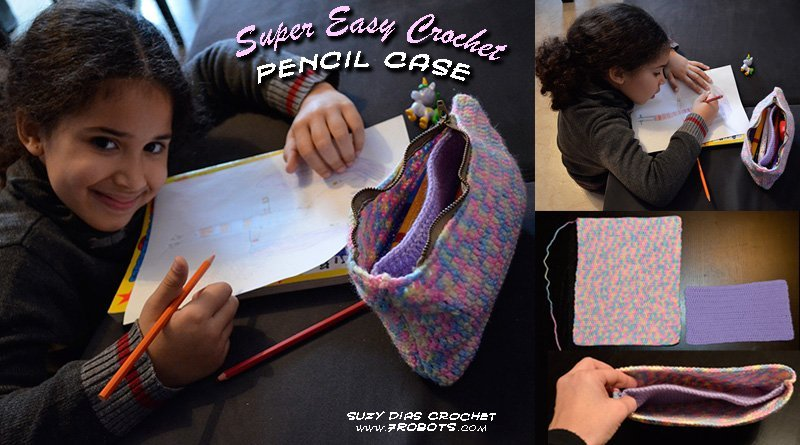 FREE Pattern: Super Easy Multicolour Pencil Case by Suzy Dias