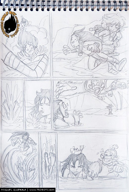 New Wolf Boy pencils by Miguel Guerra