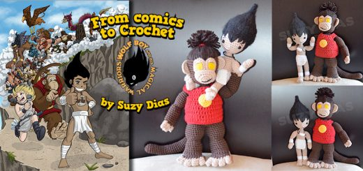Monkey King from Wolf Boy and His Magical Warriors by Suzy Dias Crochet