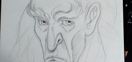 Old Man Sketch by Miguel Guerra