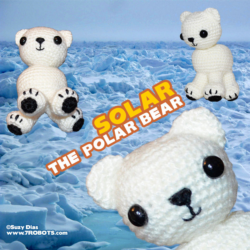Solar the Polar Bear Amigurumi by Suzy Dias