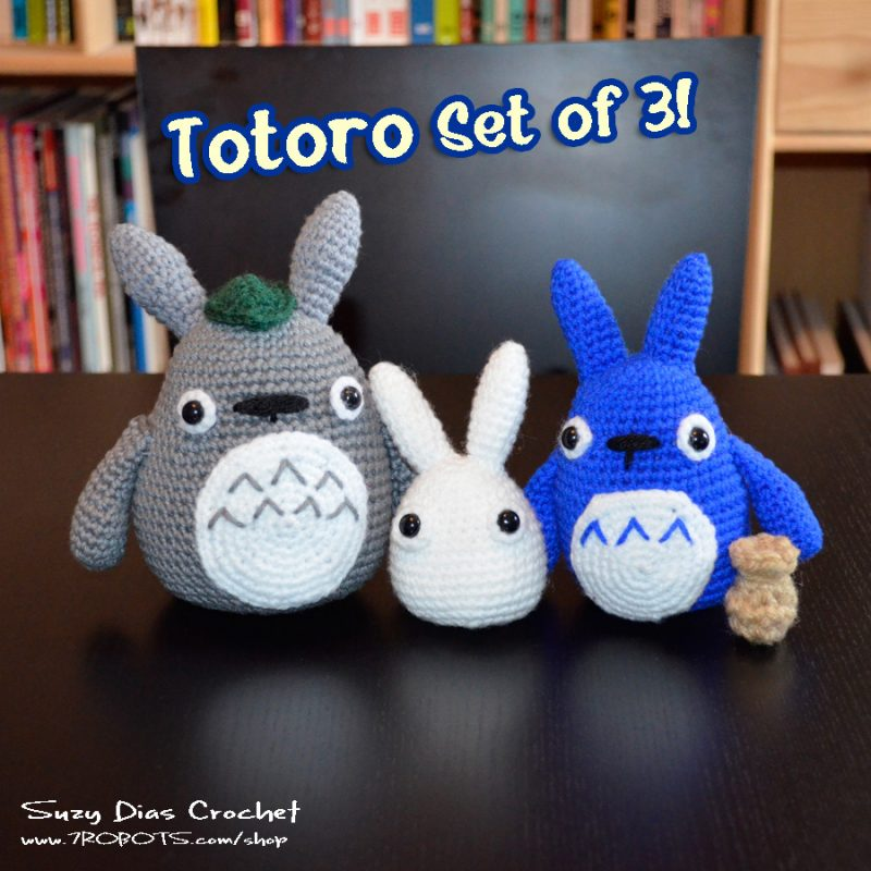 Crochet Tototro Set of 3 by Suzy Dias