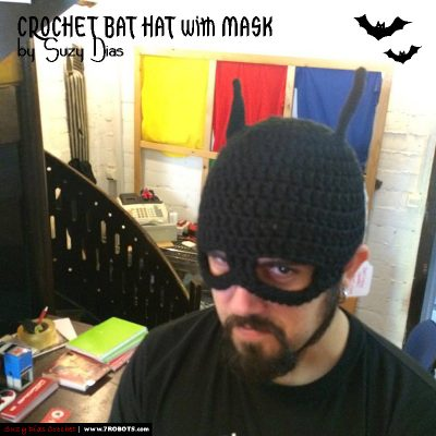 Crochet Bat Hat with Mask by Suzy Dias1