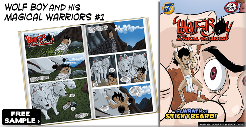 FREE Comic Sample: Wolf Boy and the Wrath of Stickybeard