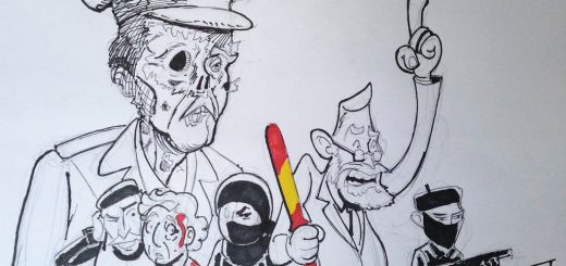 Merry Felonies Cartoon: Spain's Franco the Undead Rise by Miguel Guerra