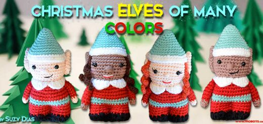 Christmas Crochet Elf Set/Elfe Noel by Suzy Dias