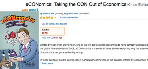 eCONomics from Steve Keen is now on Amazon Kindle