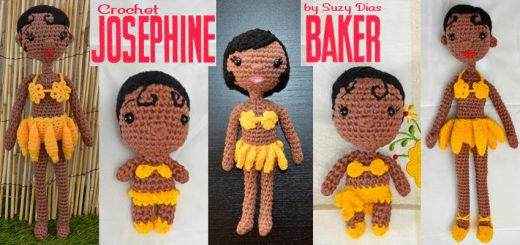Evolution of Crochet Josephine Baker by Suzy Dias