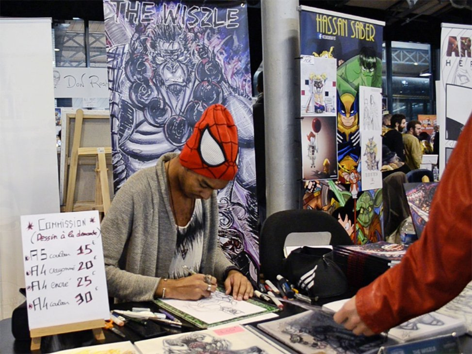 Paris à la Geek at the Paris Comic Con 2017: Artist Alley