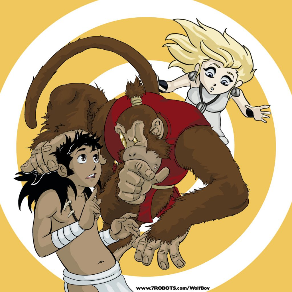 Wolf Boy and His Magical Warriors (spiral)