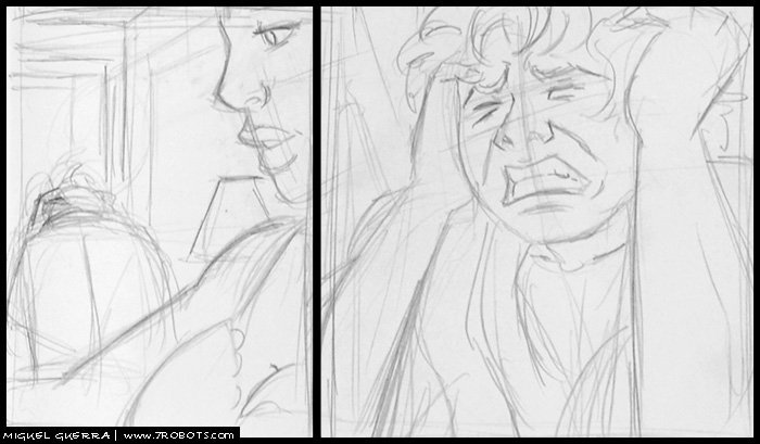 Miguel Guerra Storytelling & Page Layouts: Horror Story in One Page