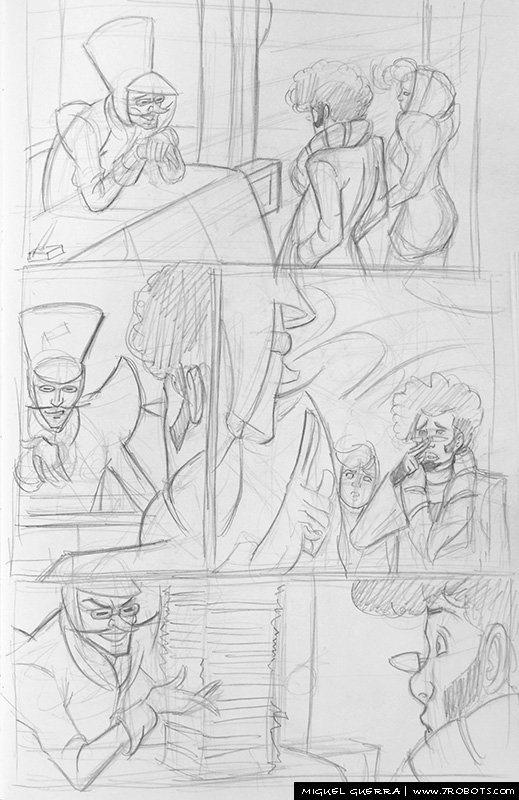 Miguel Guerra Comic Page Breakdown for Nomad