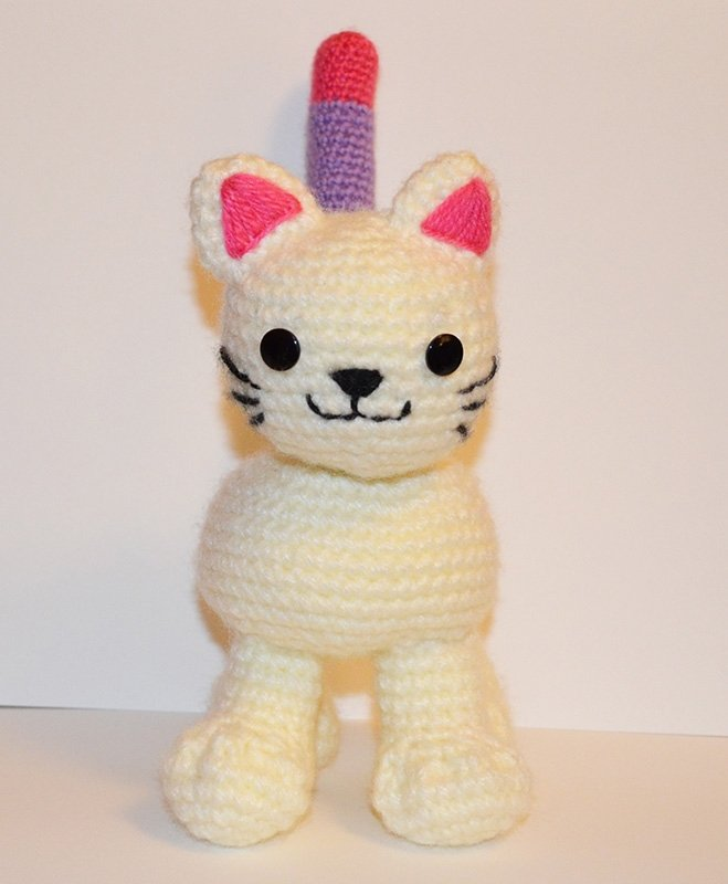 Free Crochet Catkitten Pattern With Bendable Tail By Suzy Dias