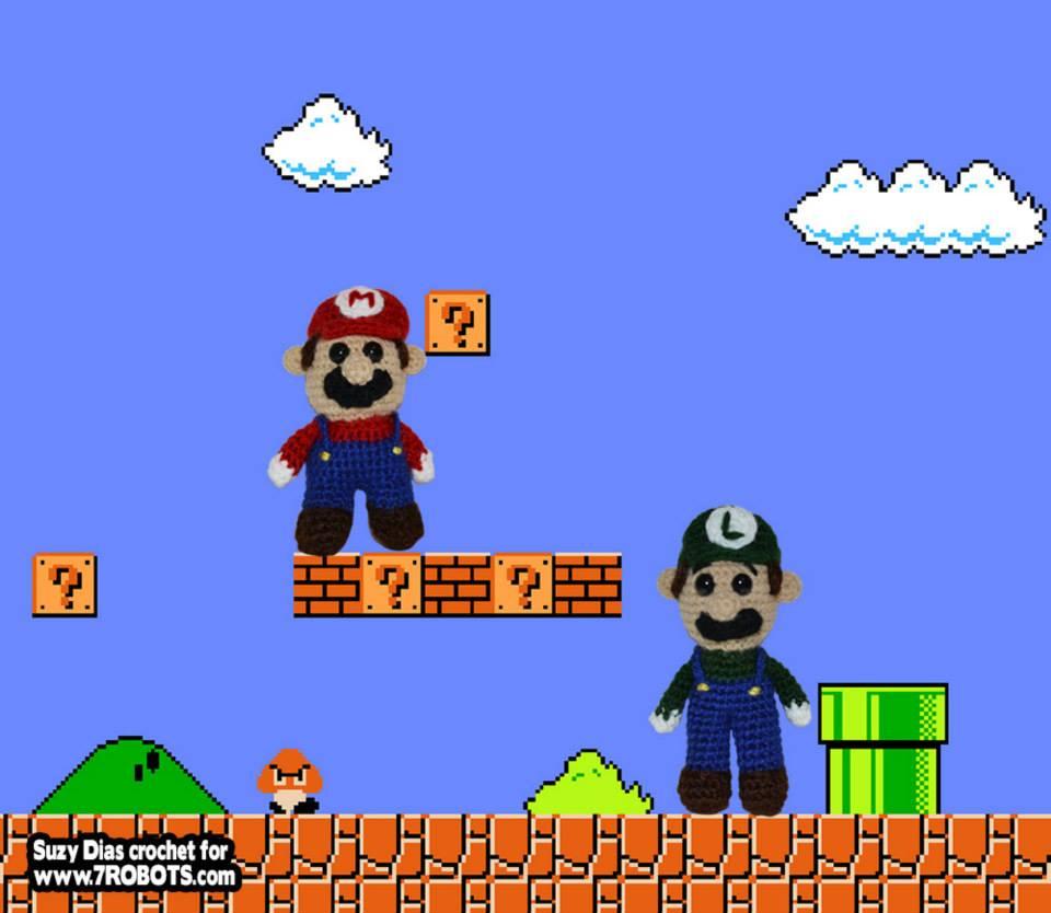 Amigurumi Super Mario And Luigi Free Pattern 7 Robots Miguel
