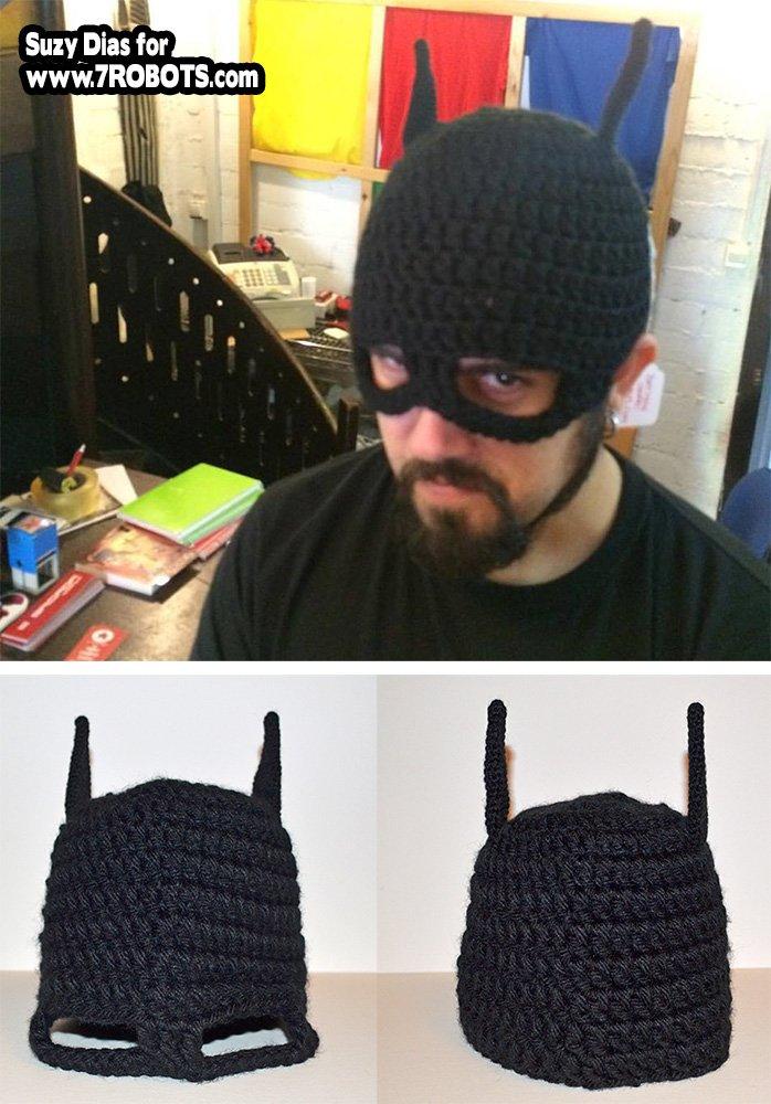 Crochet Batman Hat And Mask 7 Robots Miguel Guerra Suzy Dias