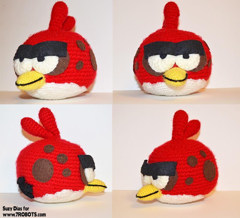 Amigurumi: Angry Birds Terence the Big Bird (Free Sphere