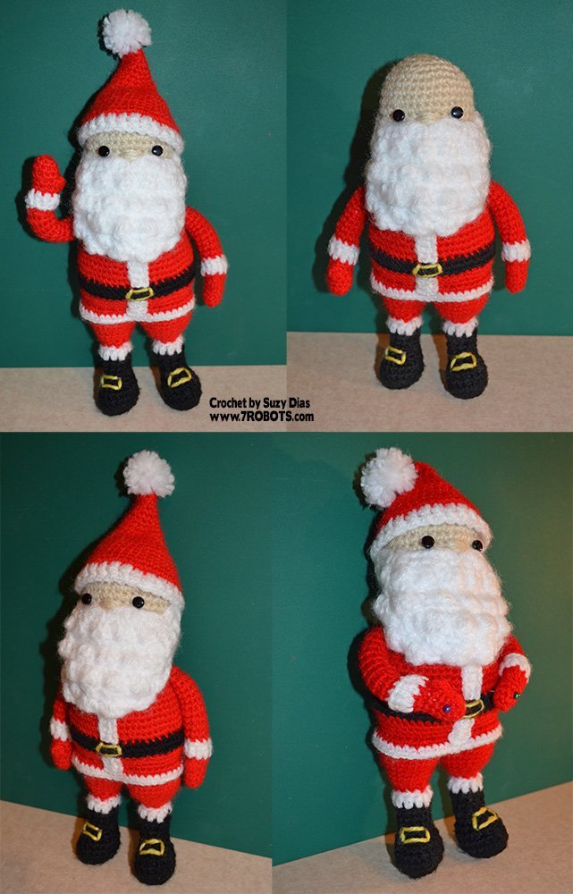 19 Free Amigurumi Christmas Santa Crochet Patterns | HubPages | 1000x641