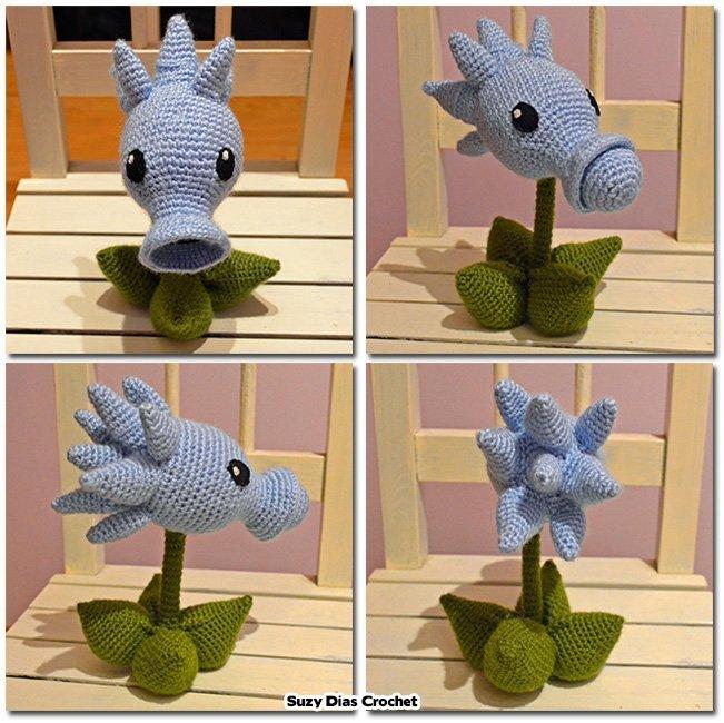 Crochet Plants Vs Zombies Snow Pea Free Pattern By Suzy Dias