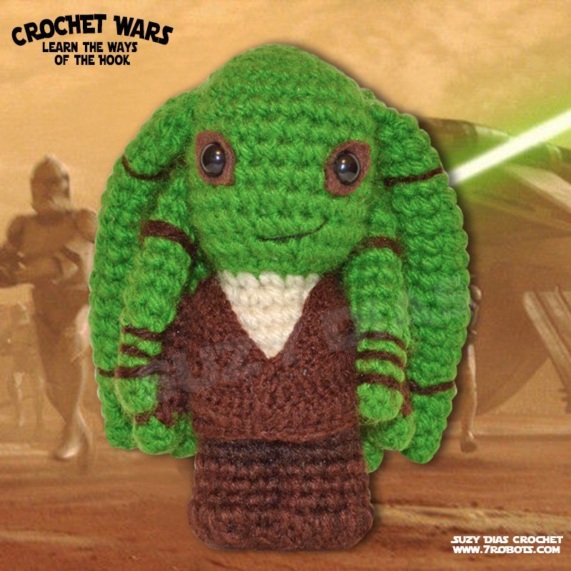 Star Wars Crochet Patterns Pattern For Yoda Star Wars Mini ... | 800x800