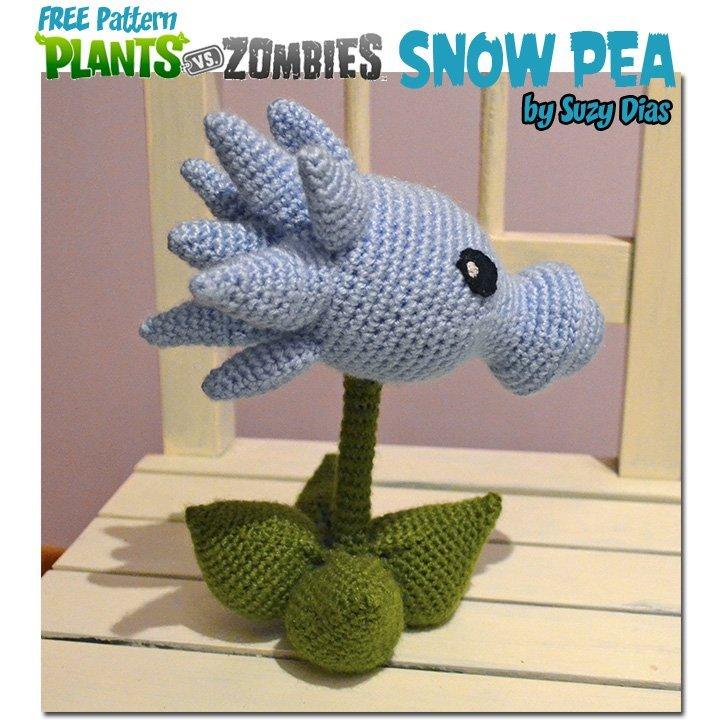 Easy Peasy Plants Vs Zombies Snow Pea Free Pattern By Suzy Dias