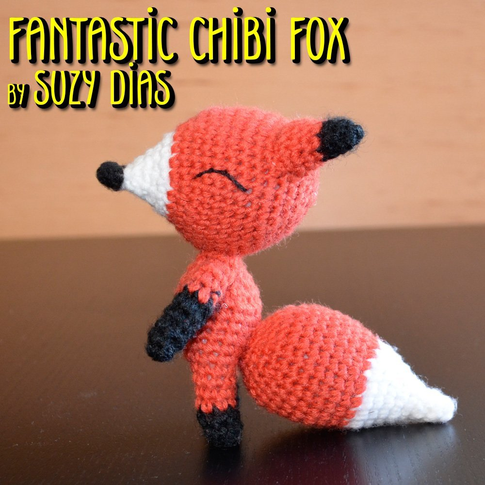 Fantastic Chibi Fox Crochet Toy by Suzy Dias for 7 Robots   1000x1000