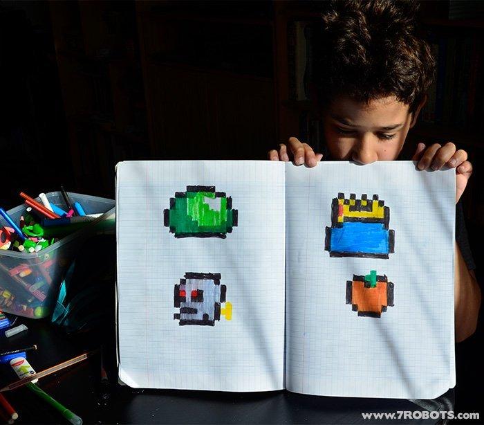 Terraria Pixel Art by Kids! Art by Declan Guerra