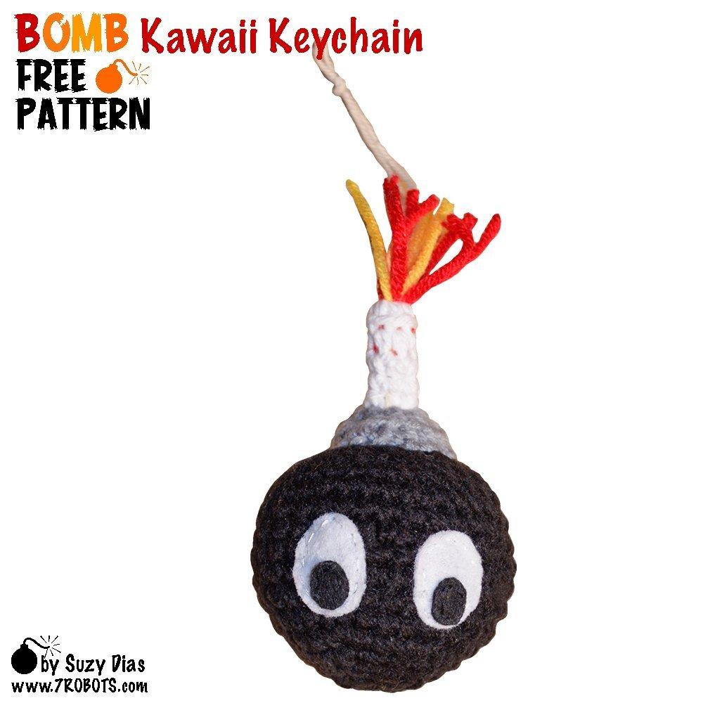 Amigurumi Cat Kawaii Keychain Crochet Free Pattern - Crochet ... | 1000x1000