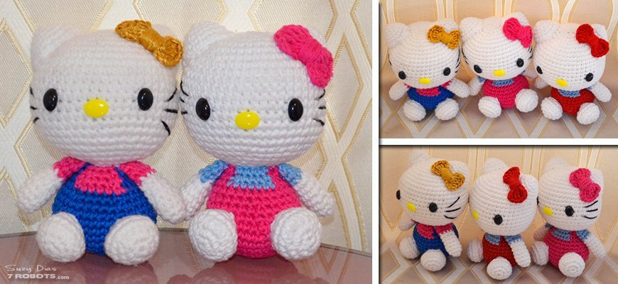 HELLO KITTY AMIGURUMI - YouTube | 400x870