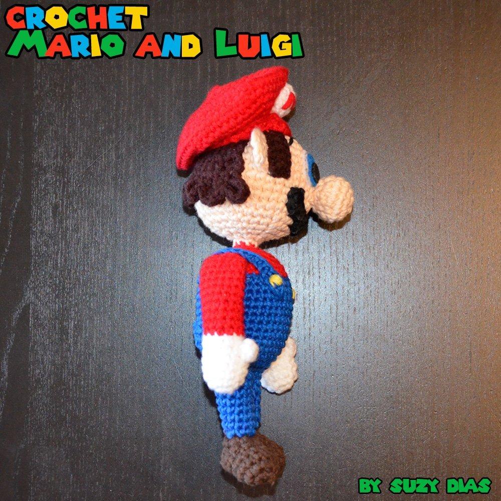 Crochet Super Mario And Luigi By Suzy Dias 7 Robots Miguel