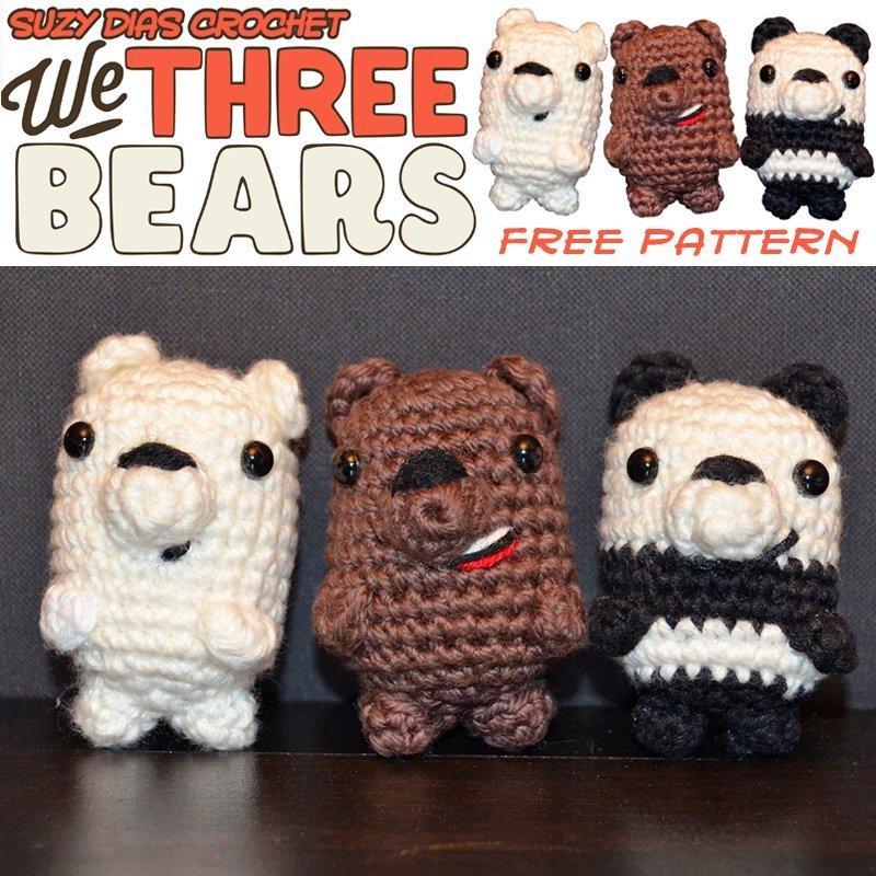 Free Crochet Patterns | Free Crochet Pattern Amigurumi Bear • Free ... | 800x800